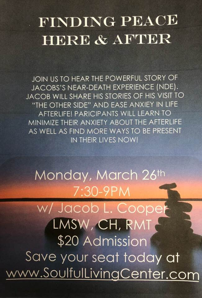 Jacob Cooper | Upcoming Meditation and Hypnosis Events